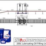 Automatisk 200L fyldelinie for smøreolie
