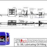 Automatisk 5L-30L smøreoliepåfyldningslinie