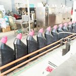Automatisk korrosivt toiletrensende væskefyldemaskine