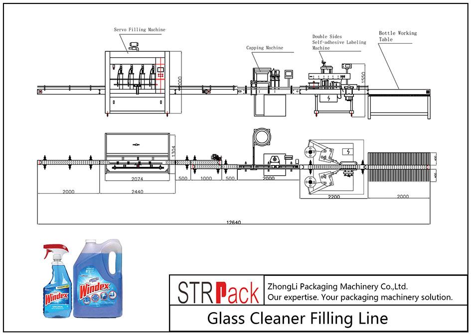 Automatisk glasrenserpåfyldningslinie