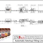 Automatisk fyldelinje for ketchup