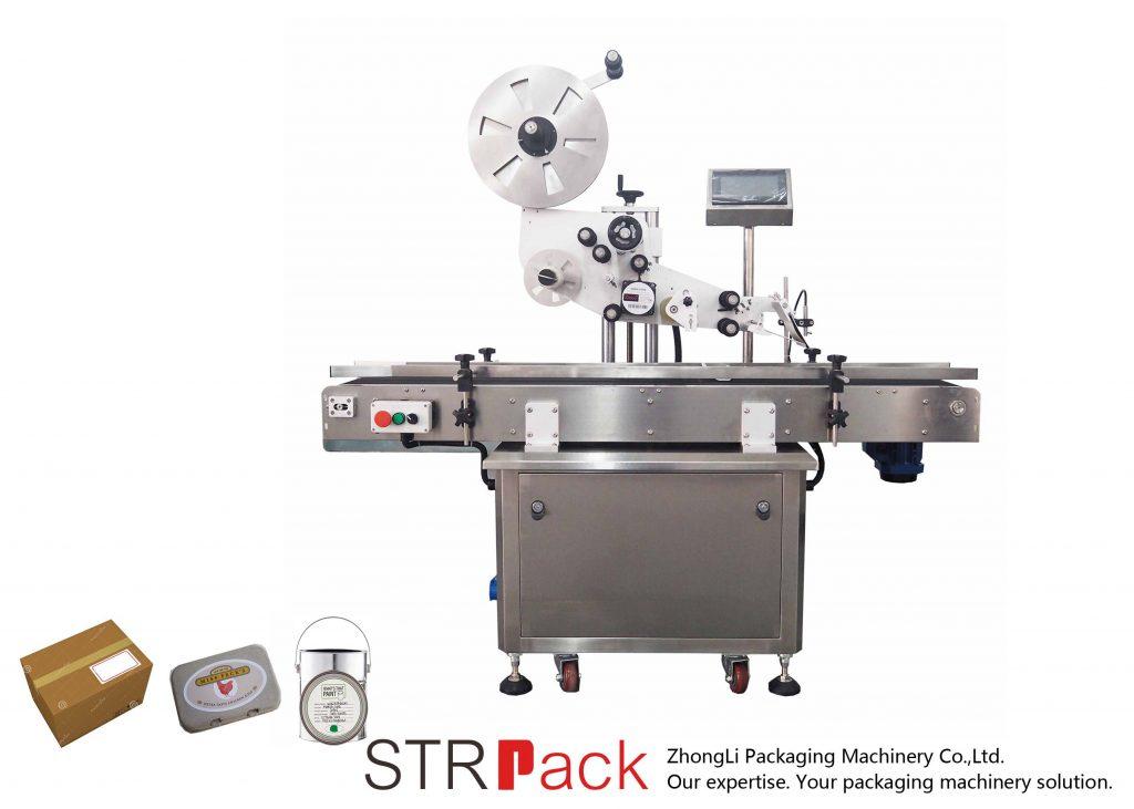 Automatisk lodret plan selvklæbende etiketteringsmaskine