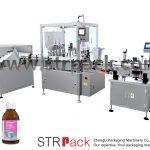 Oral flydende sirup påfyldnings- og afdækningsmaskine