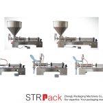 Semi automatisk stempel flydende påfyldningsmaskine